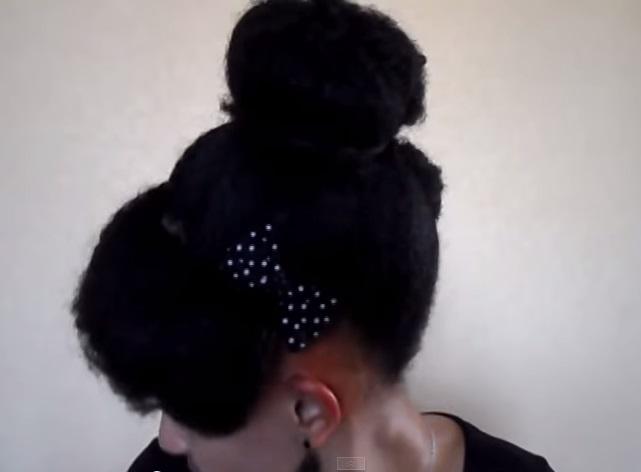 bun cheveux afros