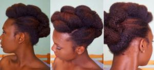 chignon afro
